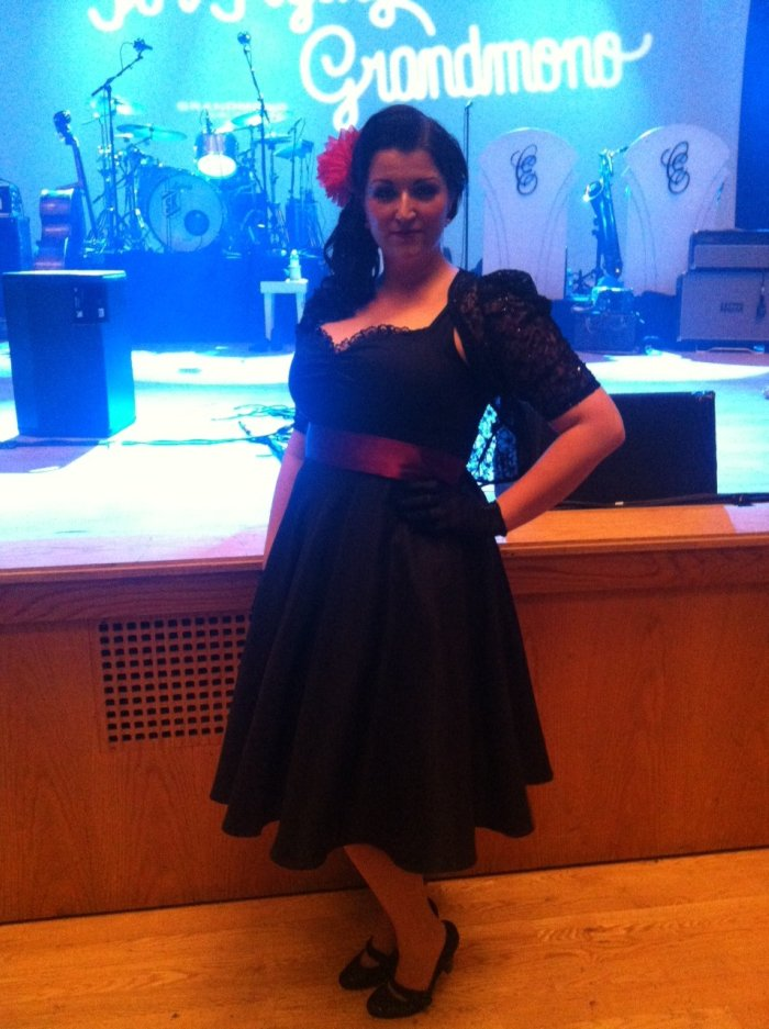 The Caro Emerald Tribute Band : photo : Next to the stage at Caros Manchester concert