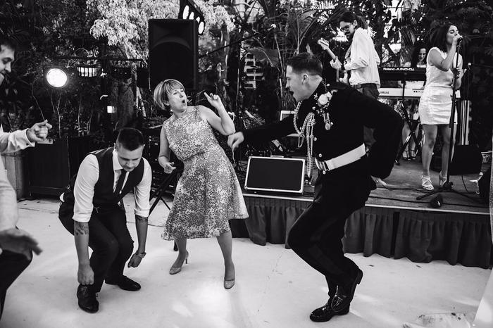 7. When the mother of the groom and the best man get down!