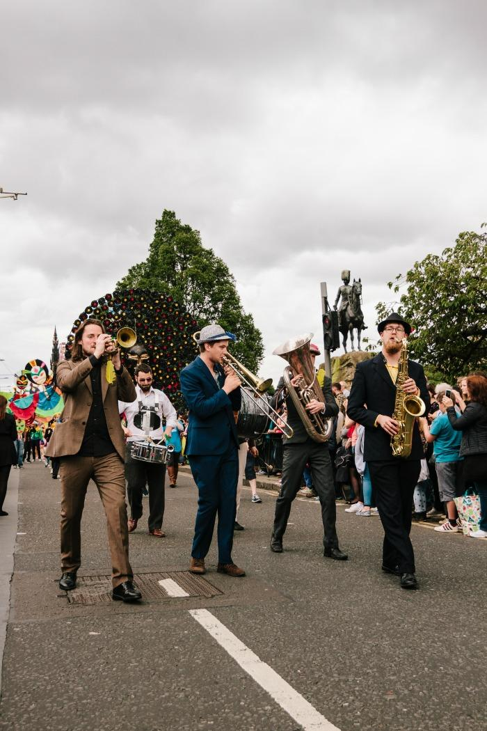 2. Parading at Edinburgh Carnival 2015