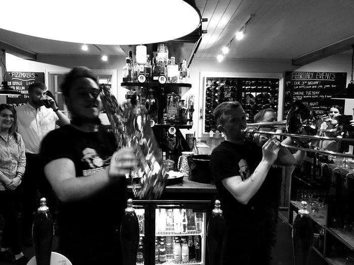 12. Brass Behind the Bar