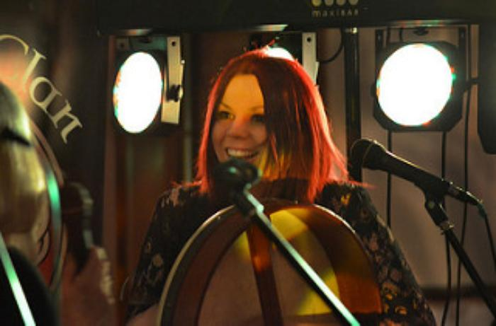 4. Emma on the bodhran