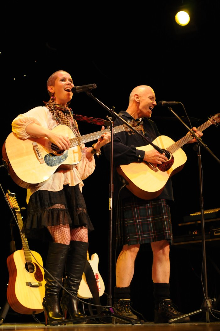 Christine Sparks : photo : Scottish Acoustic - in full flow