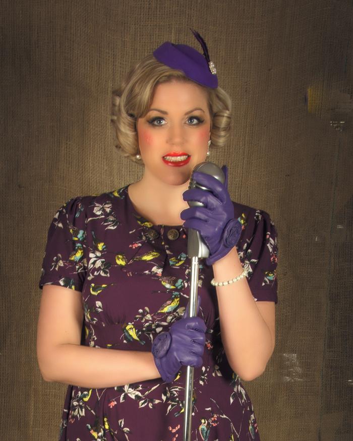 3. 1940s purple dress