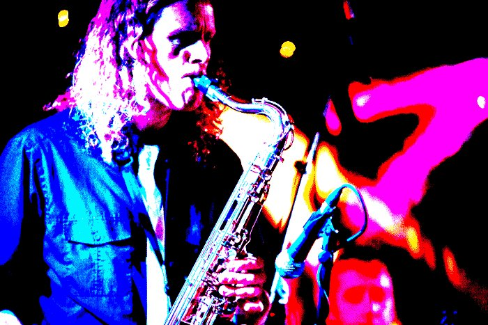 Dajo Jazz : photo : Dave Ford on Tenor Sax