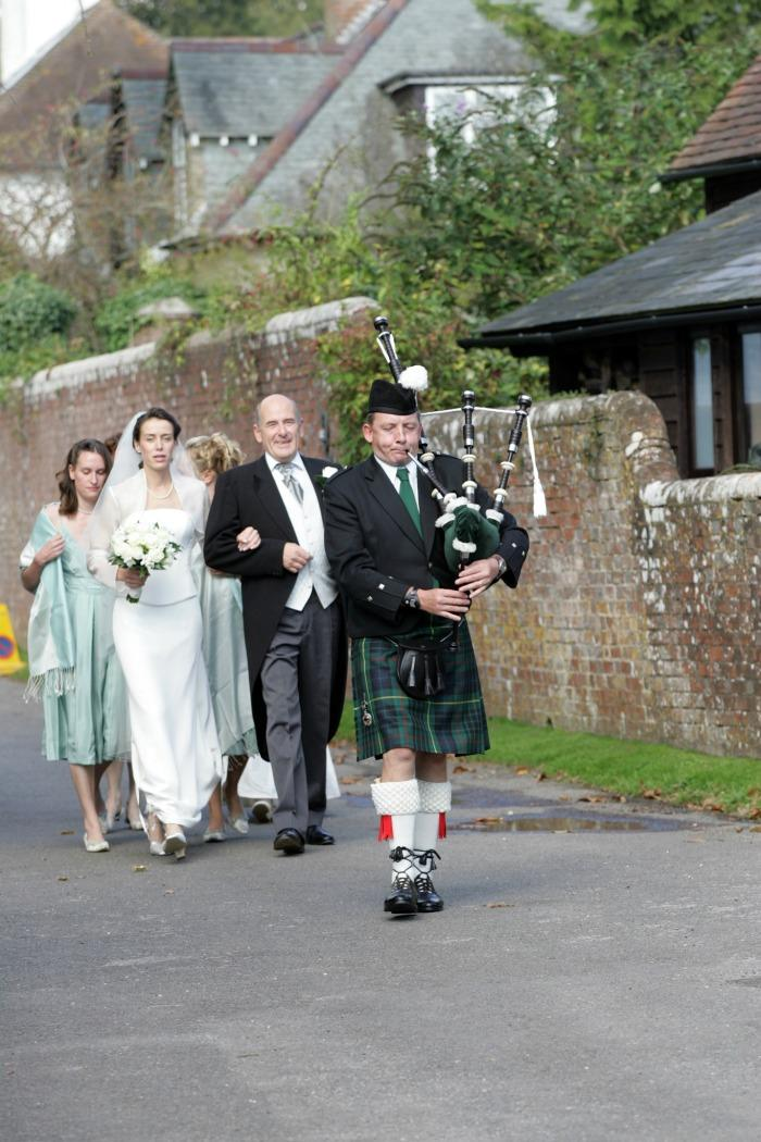 4. Leading the bride to church