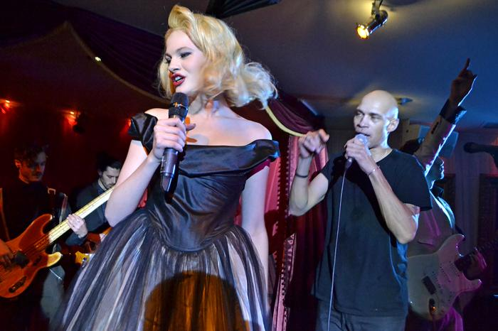8. Chloe-Jasmine Whichello Guest Singing with our band at Playboy Casino Mayfair