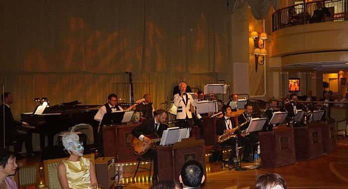 7. With cruise ship big band