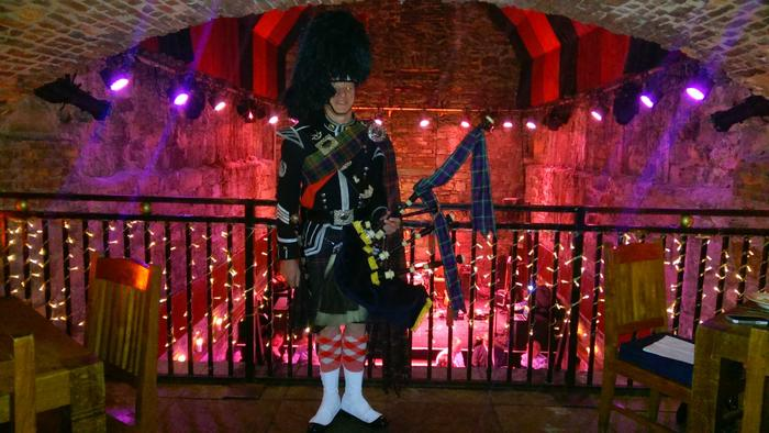 5. Edinburgh Piper Glyn Morris, The Caves
