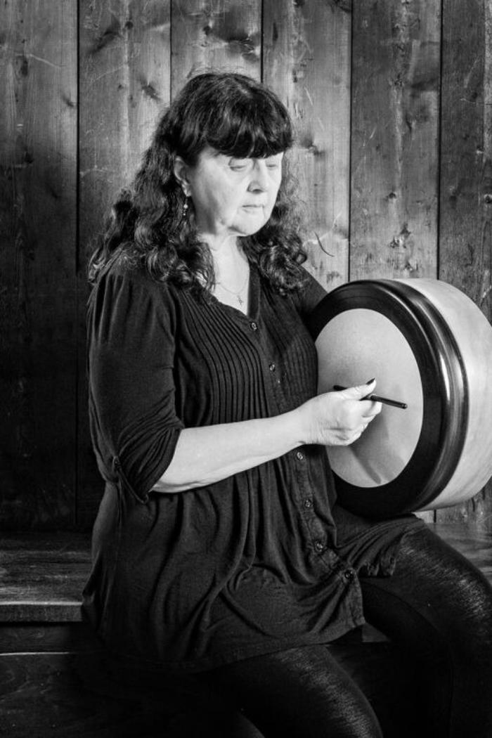 13. Heather playing bodhran