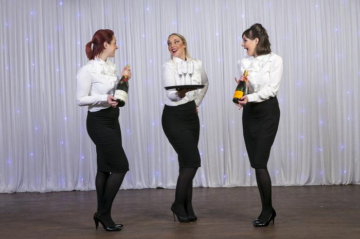 1. Choose 2, 3 or 4 singing waitresses
