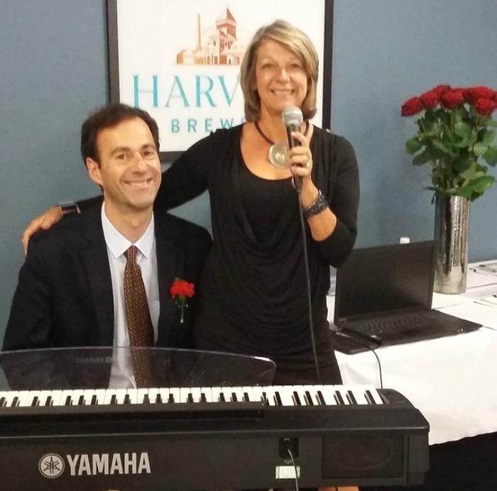 4. At a Wedding Fair with jazz singer