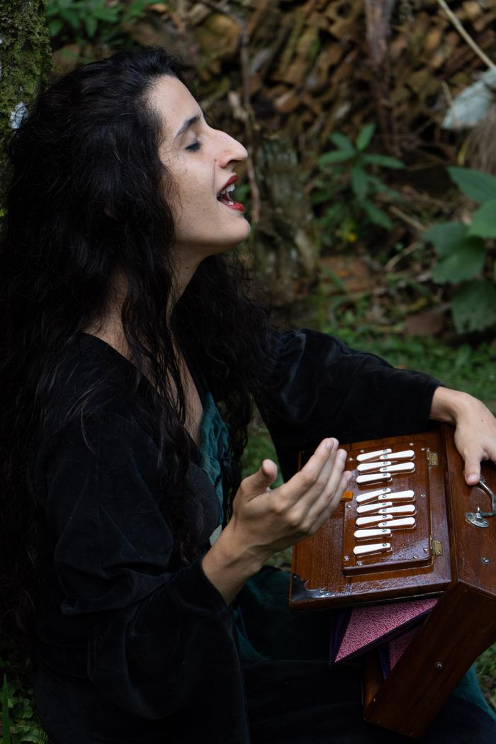 3. Shruti box and chanting in the woods