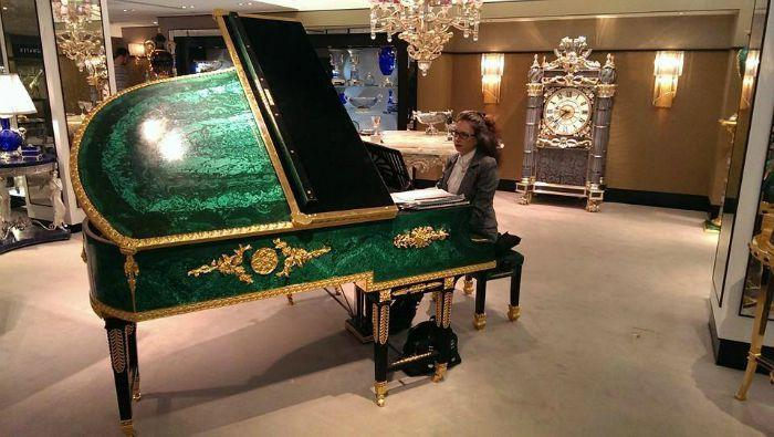 1. With green piano