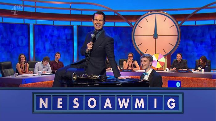 7. 7. Mark performing on 8 Out of 10 Cats Does Countdown.