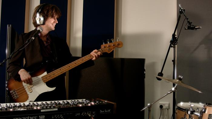 10. Dave playing bass