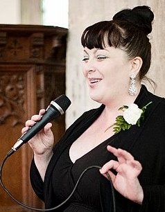 Misha Sutherland : photo : Misha Singing at  a wedding