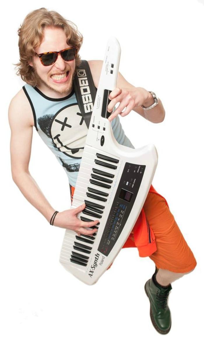 9. Gotta love a keytar