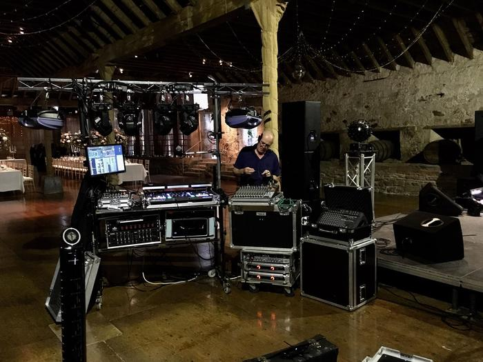 4. Disco James - setting up at Kinkell Byre