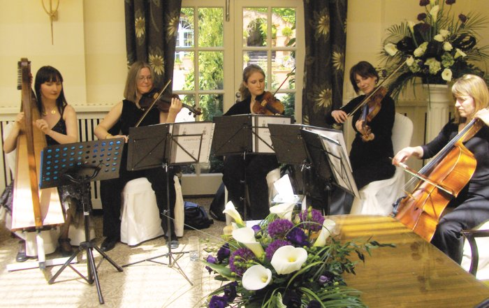 6. Ramona performing with a string quartet