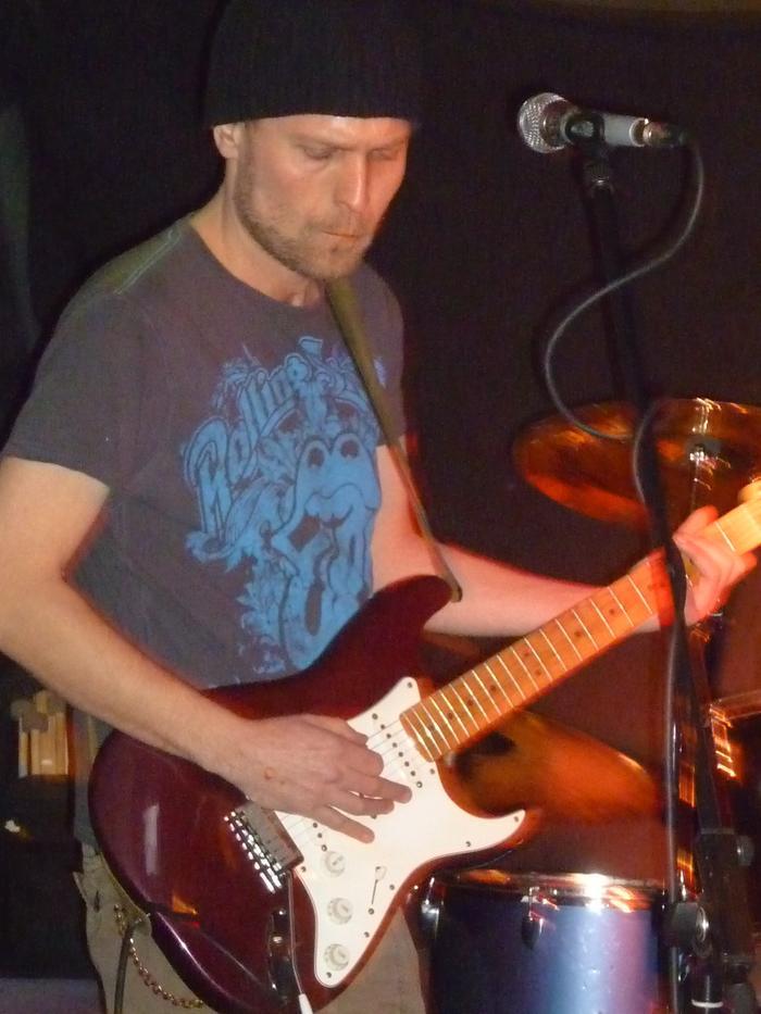 2. Jimi laying down the rhythm