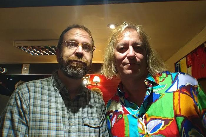 9. With Peter Buck from R.E.M.