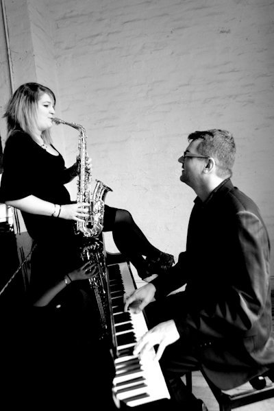 Round Midnight : photo : Round Midnight Sax and Piano Duo