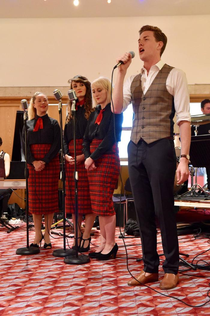 1. Ryan Singing with St Andrews Sisters and Berrie Big Band