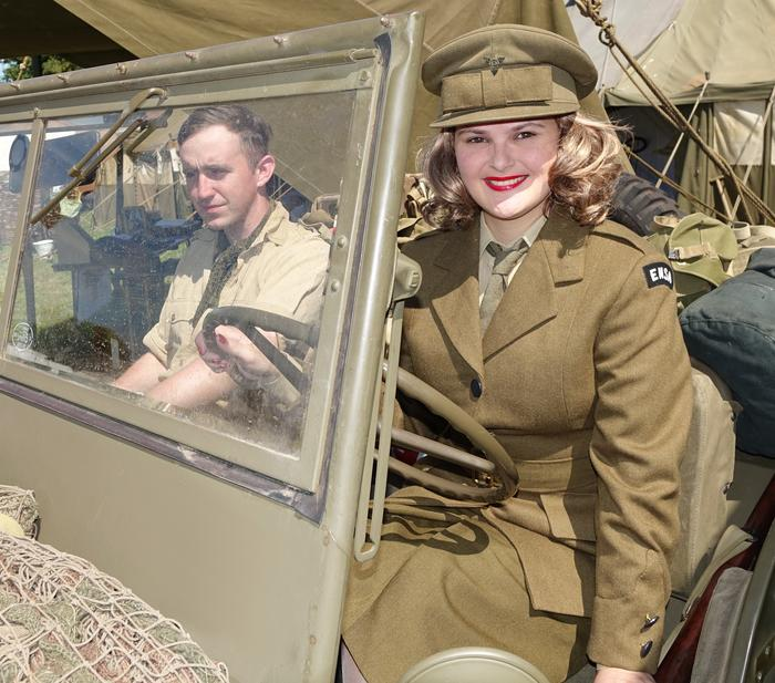 1. Samantha as vera Lynn - uniform