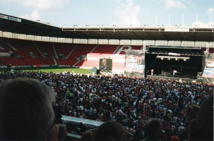 8. Sheryl on stage at Stoke