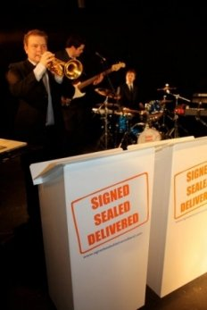 Signed Sealed Delivered : photo : Brass