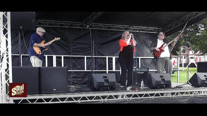 3. Soul Shack Trio (from left to right Bill (elec gtr), Leza (vocals, Lewey (bass gtr)