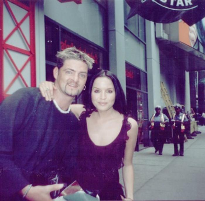 8. Lead Singer Marc With Andrea Corr of The Corrs In New York