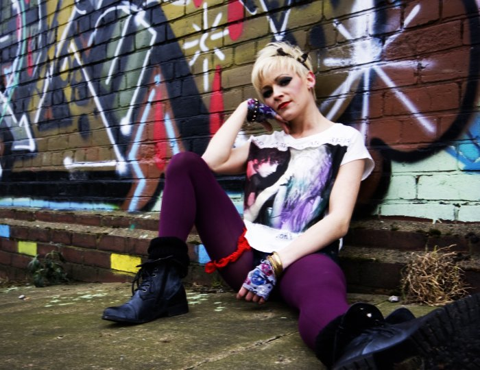 5. Stacey and graffiti
