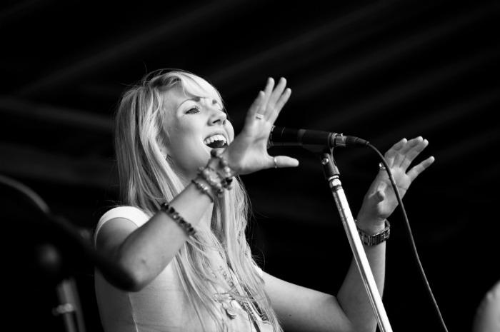 3. Terri-Ann performing at Staxtonbury Festival