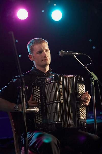 The Anne Dickson Band : photo : Graeme Mackay - Accordian player for Ceilidh