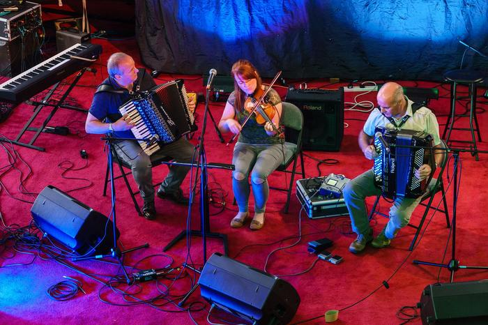 1. In concert at Kelso Old Parish Church, Kelso Folk Festival. 3 September 2017