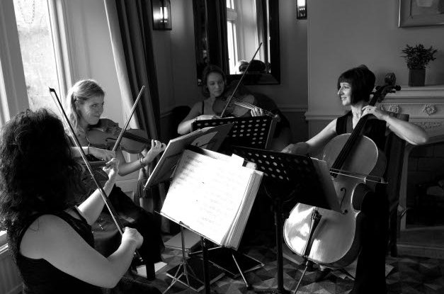 The Cambria String Quartet : photo : B&W