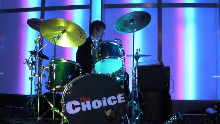 The Choice : photo : Haydn on his drums!