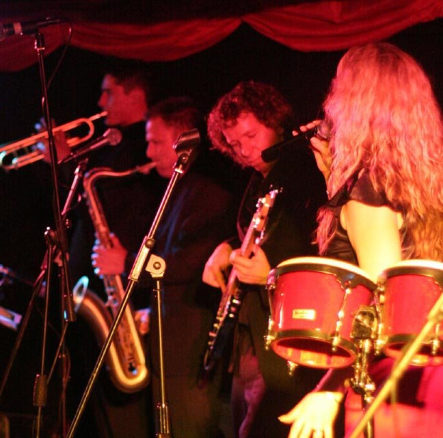 The Debbie Boyd Band : photo : Horn section