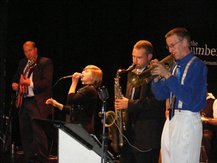 2. At Brecon Jazz Festival, August 2010