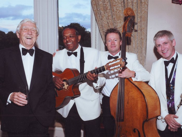 The Ritz Trio : photo : The Ritz Trio perfroming alongside Sir Michael Parkinson, Gleneagles Hotel  2010