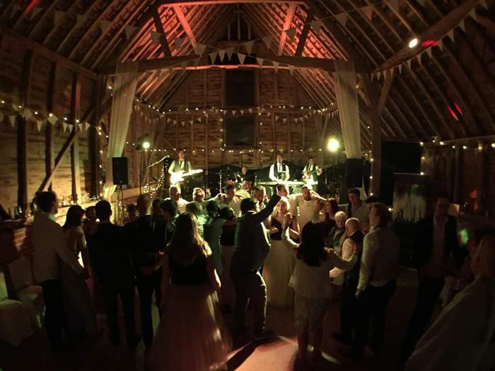 2. Rocking the barn wedding!