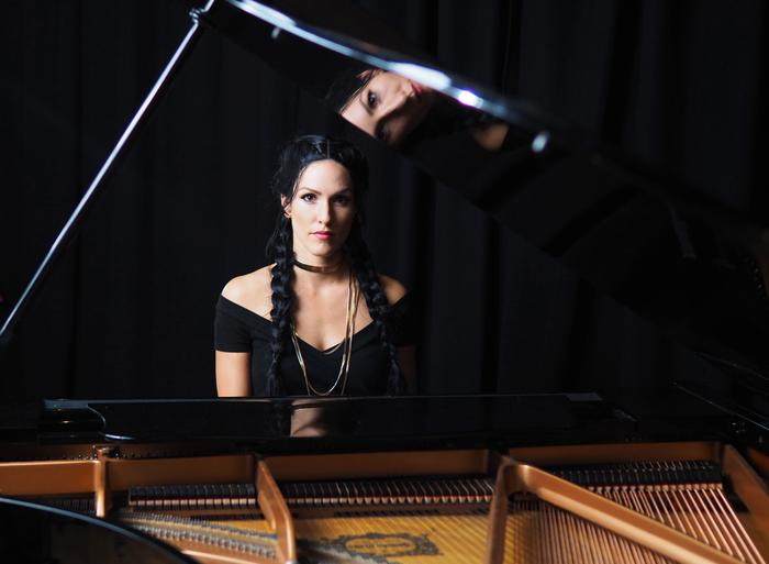 4. Tina with Steinway Grand Piano