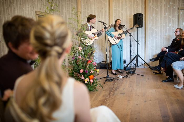 1. Woodstock Performing as part of a beautiful wedding ceremony